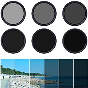 XCSOURCE® Variable Adjustable Neutral Density ND Fader Filter ND2 ND4 ND16 to ND400 With Case (52mm)