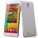 5.5 Zoll (14 cm) IPS qHD Dual SIM Smartphone N8000 Quad Core MTK6582 Android 4.4.2 1GB RAM 13MP+5MP + Flip Cover Weiß