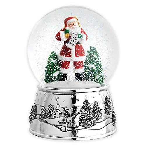 Classic Christmas Santa Snowglobe (Twist Knob To Play Song) (Peter Pan Musical Snow Globe compare prices)