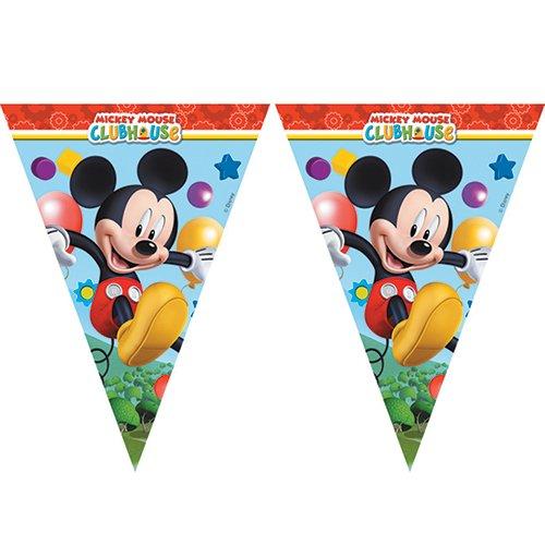 Procos 81515 - Filare Bandierine Mickey Mouse Club House (2.3M), Multicolore