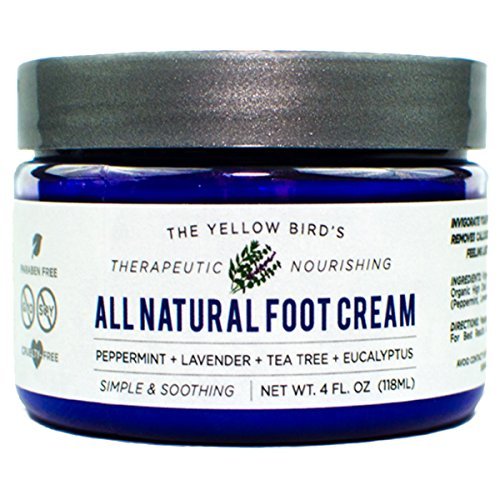 All Natural Antifungal Foot Cream. Moisturizing Organic Relief for Dry Cracked Heels, Callused Feet, Athletes Foot. Best Therapeutic Grade Essential Oils: Peppermint, Lavender, Eucalyptus, Tea Tree. (Foot Treatment Cream compare prices)