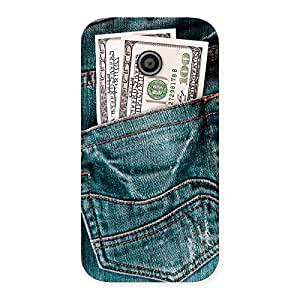 Luxirious Full Dollar Jeans Back Case Cover for Moto E