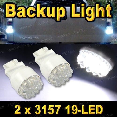 Pair 3157 19-Led Xenon White Led Car Backup / Back Up Reverse Light Bulbs 3156 3057