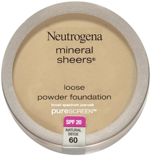 Neutrogena Mineral Sheers Loose Powder Foundation with PureScreen, SPF 20, Natural Beige 60