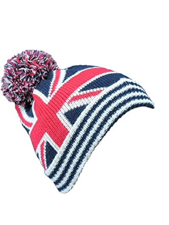 Knitting Pattern For Union Jack Hat : Womens Hats Mens Woolly Hats Bobble Hat Union Jack Flag Knitted Striped Londo...
