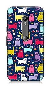 Motorolo Moto G3 3rd Gen 3Dimensional High Quality Designer Back Cover by 7C