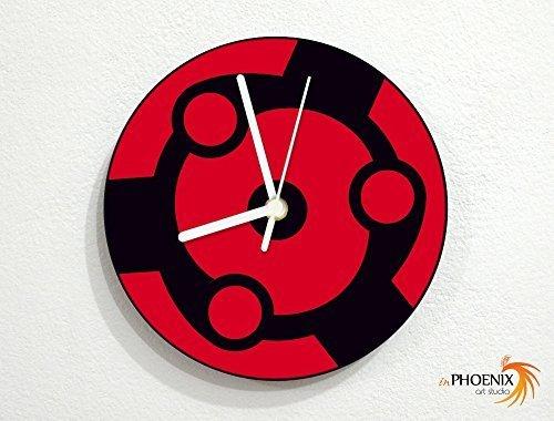mangekyo madara uchiha sharingan naruto wall clock by
