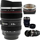 Coffee Mug Camera Lens - Thermos Travel Mugs for Men & Women - Latest Generation Refreshments With Drinking & Quality Stainless Steel Insulated - Best for Morning - Cool Personalized Photo Plastic Mugs with Lid - Lens cup Insulated Tumbler, Vacuum - Cool Dishwasher Safe Customized Cup Holder for Photography - Awesome [12oz]