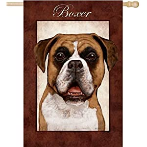 Richly Colored Fade- and Tear-Resistant Dog Breed Garden Flag