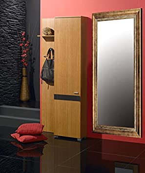 Wood dressing mirrors: model LUMIA. Colour: Gold.