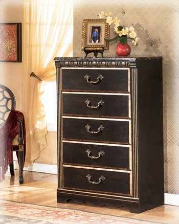 Dark Brown Traditional Bedroom Chest