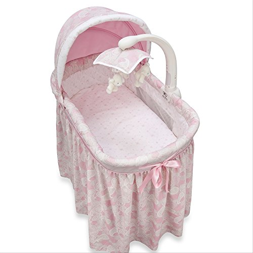 Simmons Pink Paisley Glider Bassinet