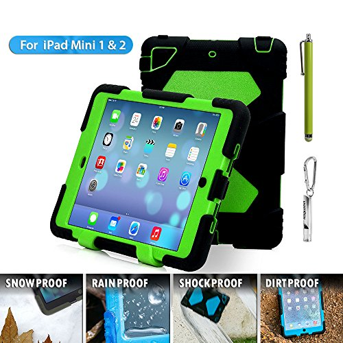Aceguarder Water-Proof Shock-Proof Mini Case for Ipad Mini, 1, 2, 3 - Black & Green (Ad Mini Case compare prices)