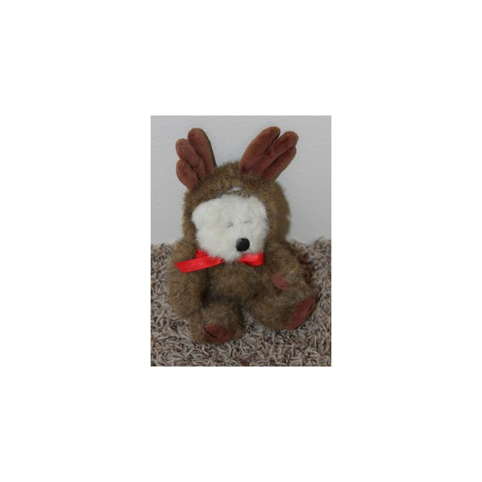 Retired Boyds Bears 8 Inch Poseable Plush Boyds Bear Ansel Reindeer Doll
