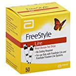 FreeStyle Lite Test Strips, Blood Glucose, 50 test strips