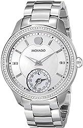 Movado Women's 0660006 Analog Display Swiss Quartz Silver Smartwatch