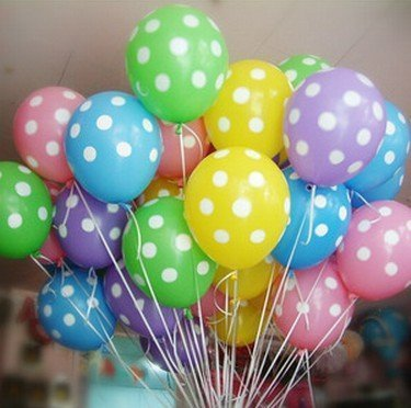 NEO 12'' Mixcolor Polka Dot Balloons for Party Decoration(30pcs) mixcolor 12 inch