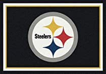 "Hot Sale NFL Team Spirit Novelty Rug Rug Size: 10'9"" x 13'2"", NFL Team: Pittsburgh Steelers"