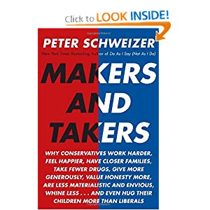 Makers and Takers: Why conservatives work harder, feel happier, have closer families, take fewer drugs, give... by