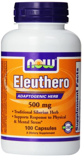 Now Foods Eleuthero 500mg, 100 Vcaps