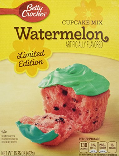 Betty Crocker Limited Edition Watermelon Cupcake Mix 15.25 Ounces (Watermelon Cake Mix compare prices)
