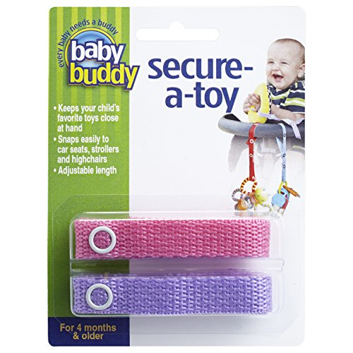 Baby Buddy Secure-A-Toy, Pink/Lilac