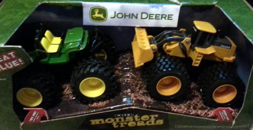 Ertl John Deere Monster Treads 2 Pack Wheel Loader & Gator front-803464