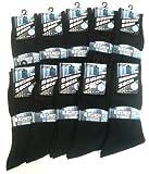紳士靴下「ビジネスソックス(無地黒)25-27cm」10足セット