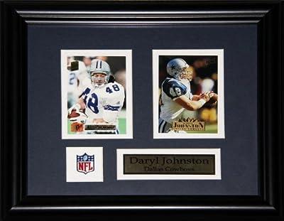 Daryl Johnston Dallas Cowboys 2 card frame