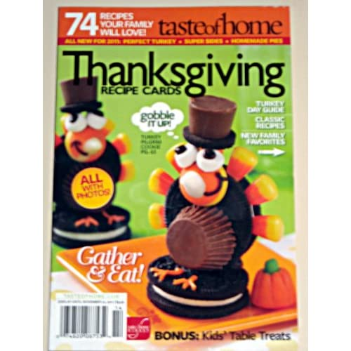 Taste of Home Thanksgiving Recipe Cards (November 2011)