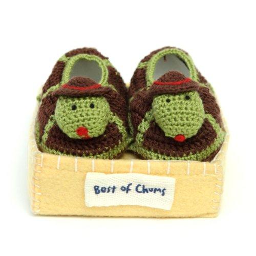 Best of Chums Baby Crochet Bootie Turtle
