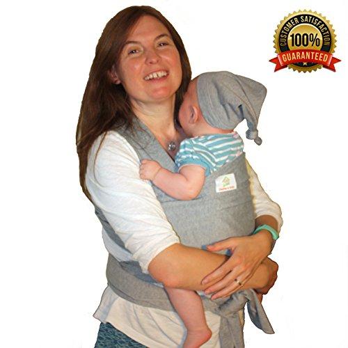 NEW NCT Baby Sling con Free-Cappello e tasca & # x2764; un accogliente e leggero Baby Carrier, innamorati, per mamma e papà & # x2764; grigio neutro