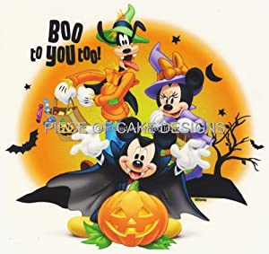 Disney Mickey Mouse & Friends Halloween Boo To You Too!!! ~ Edible Image Cake/Cupcake Topper!!!