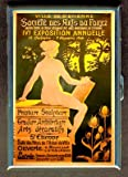 Vintage French 1906 Art Poster Cigarette Case, ID Wallet USA Made