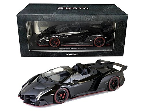 Kyosho Lamborghini Veneno Roadster RDST 1/18 Diecast Model Car Black (Lamborghini Model Car compare prices)