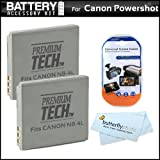 2 Pack Battery Kit For Canon Powershot ELPH 310 HS ELPH 100 ELPH 300 SD960 IS SD940 IS SD780 IS SD1400 IS Digital Camera Includes 2 Extended Replacement (900 maH) NB-4L Battery + LCD Screen Protectors + MicroFiber Cleaning Cloth ~ ButterflyPhoto