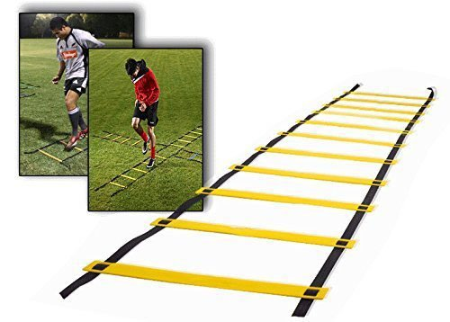 Teenitor® 12 rung Agility Ladder Speed ladder Training ladder for Soccer, Speed, Football Fitness Feet Training with Teenitor® Carry Bag