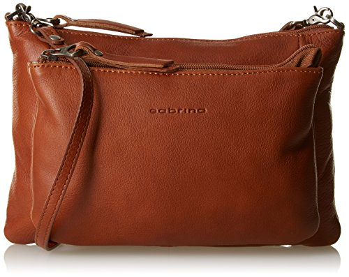 Sabrina Manon, Borsa a tracolla donna , Arancione (Orange (Cuir)), Taille Unique