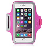 iPhone 6S Plus Case, Shocksock [Reflective] [Pink] iPhone 6S Plus Armband, Sports Gym Bike Cycle Jogging Armband with Dual Arm-Size Slots and Key Pocket Custom Made Case for iPhone 6 Plus / 6S Plus (Pink)