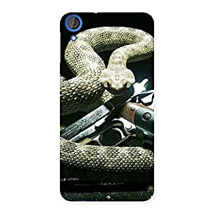 Delighted Gun And Rattle Snake Back Case Cover for HTC Desire 820s
