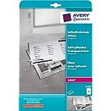 """Avery Zweckform 3482 Transparente, selbstklebende Folien, DIN A4, spezialbeschichtet, stapelverarbeitbar, 25 Blattvon """"Avery Zweckform"""""""