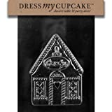 Dress My Cupcake DMCC451A Chocolate Candy Mold Gingerbread House Side A Christmas
