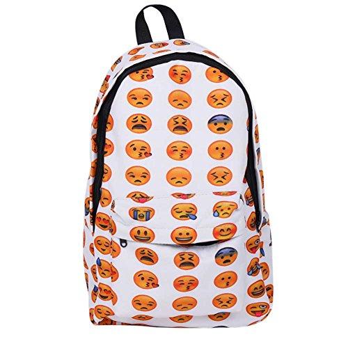 Zaini di emoji faccine emoticon, svago all'aperto della scuola dei figli giorno Pack zaino