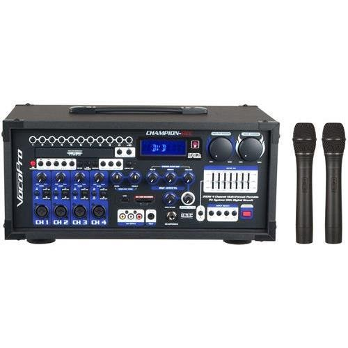 VOCOPRO CHAMPION-REC 4 HEAD 200W 4-Channel Multi-format portable PA with digital recorder