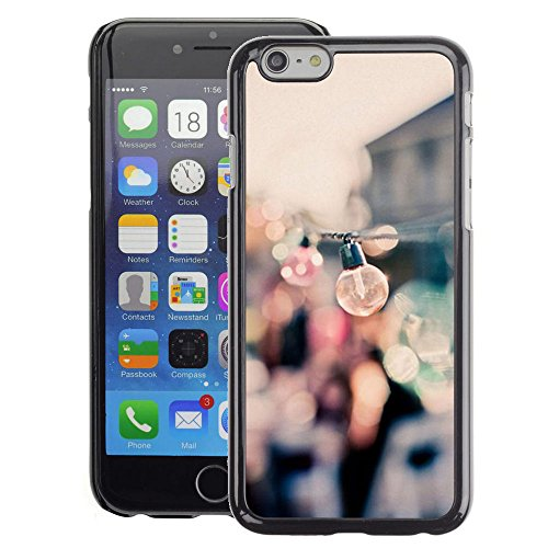 A-type Colorful Printed Hard Protective Back Case Cover Shell Skin for iPhone 6 (Party Bulbs Docks Port Summer Focus Blur)