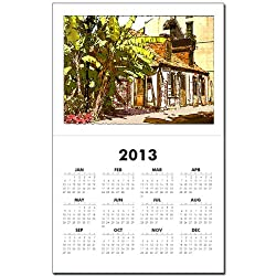 CafePress French Quarter Black Smith Shop Calendar Print - Standard by CafePress