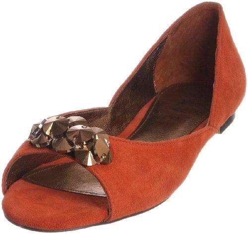 Ravel Women's Glow Orange Open Toe Flat Rls222 8 UK