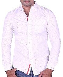 Equipoise Men's Cotton Casual Shirt (EQ-01 M/44_White_M)