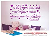 DISNEY CINDERELLA WALL STICKER PRINCESS, LARGE BEDROOM, GIRLS BEDROOM, GIRLS ROOM, PLAYROOM, NURSERY LOUNGE, HALL, KITCHEN,