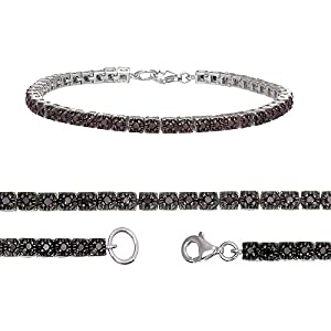 1 CT Black Diamond Bracelet Sterling Silver